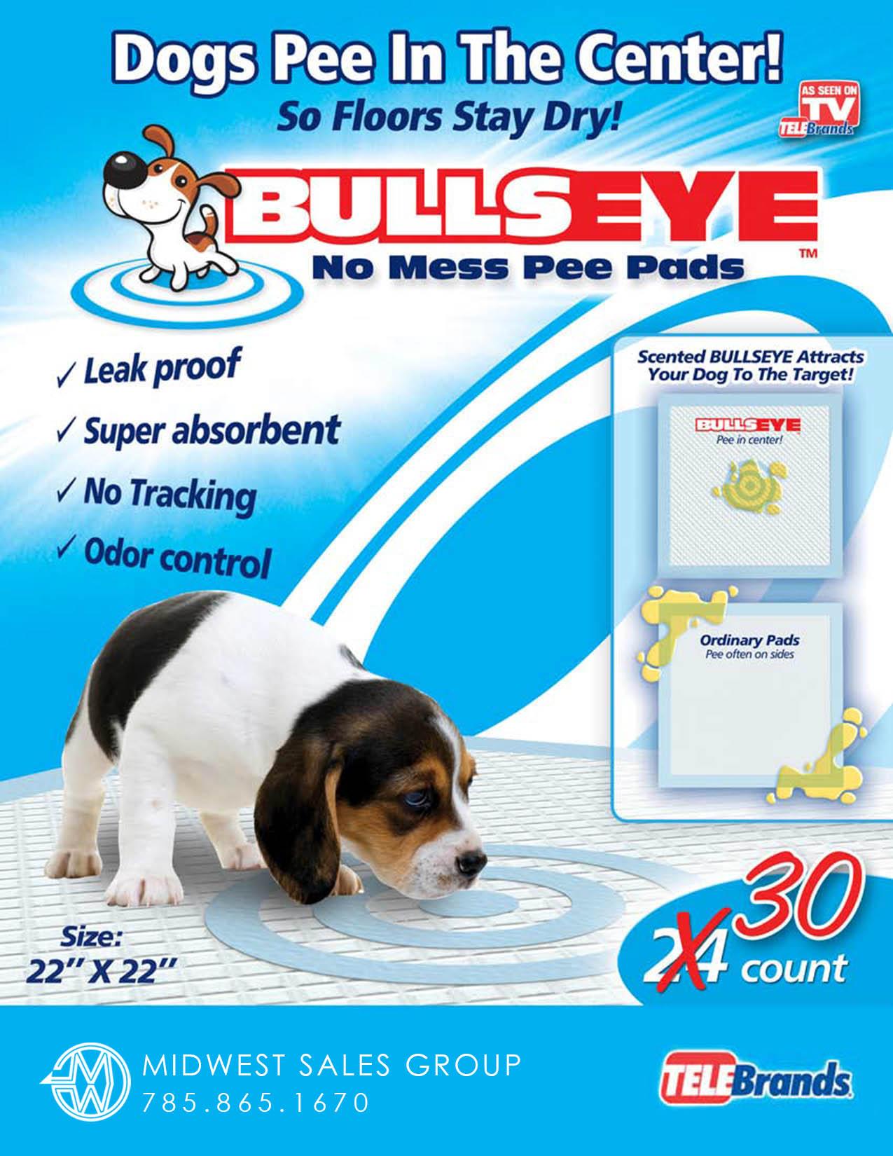 Bullseye Pee Pads SELL SHEET