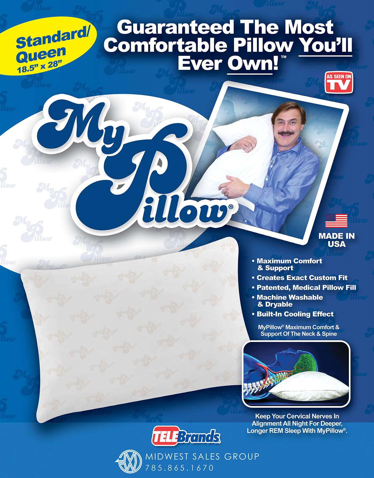 My Pillow SELL SHEET