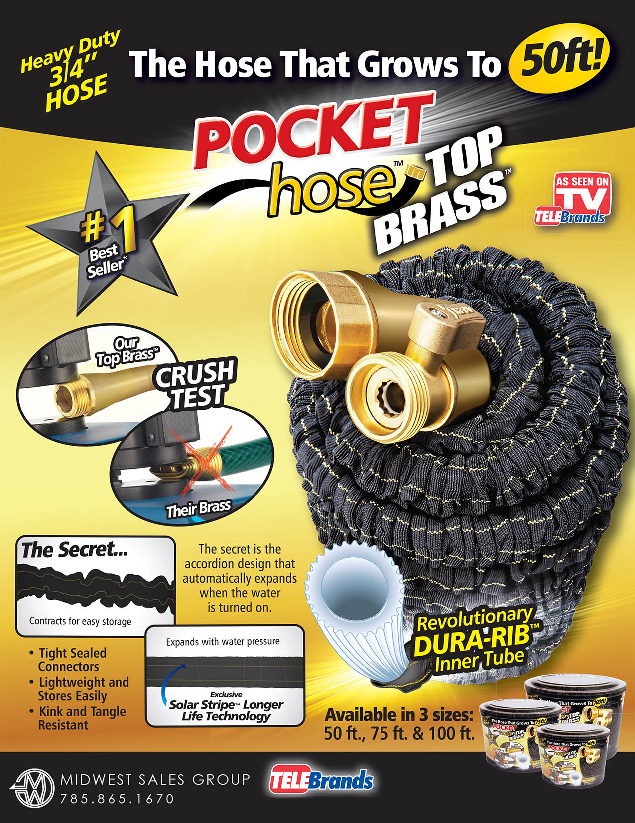 pocket hose top brass sell sheet r3-3 SIZES embed