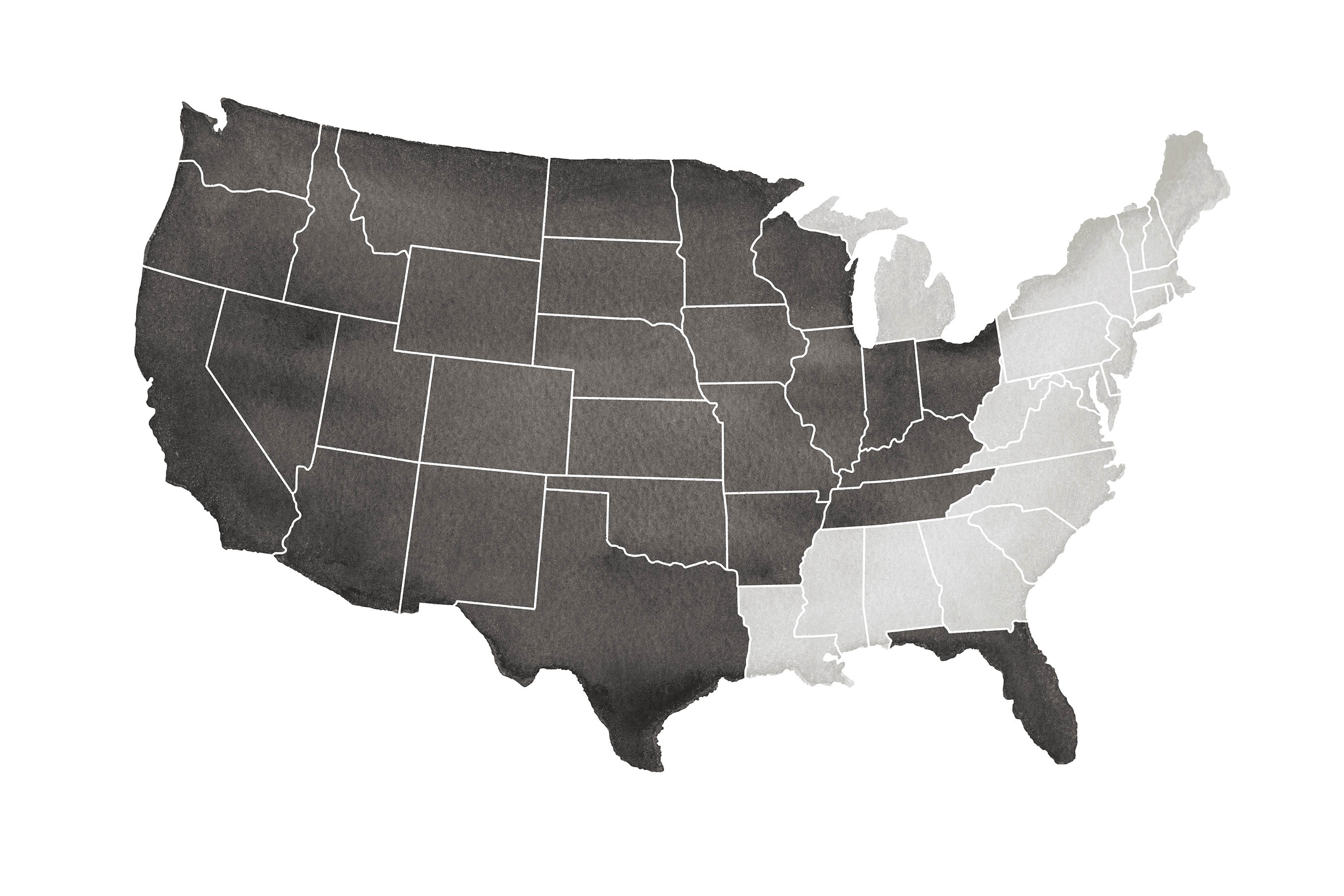 USA Map for Midwest Sales Group