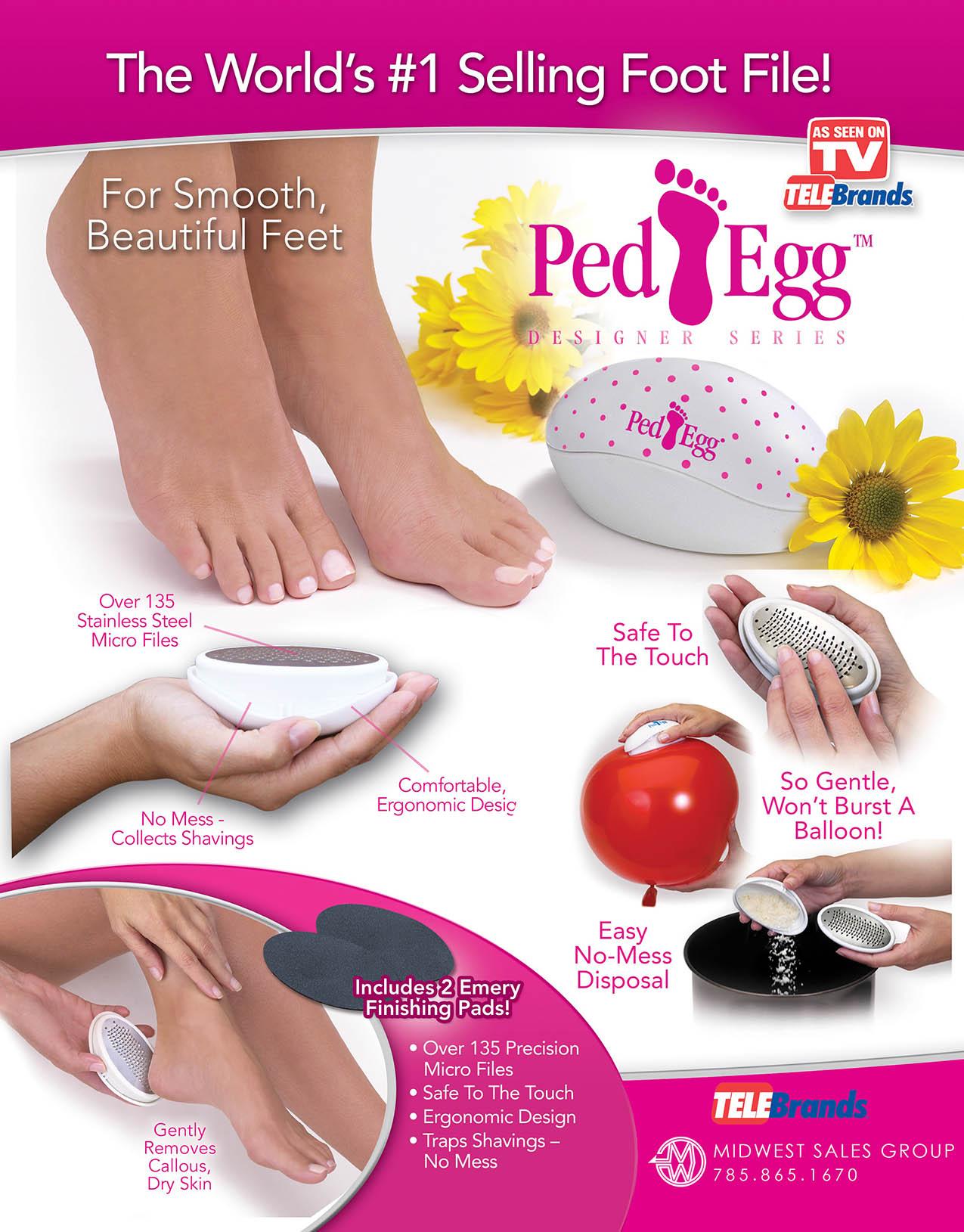 ped egg polka dots SELL SHEET
