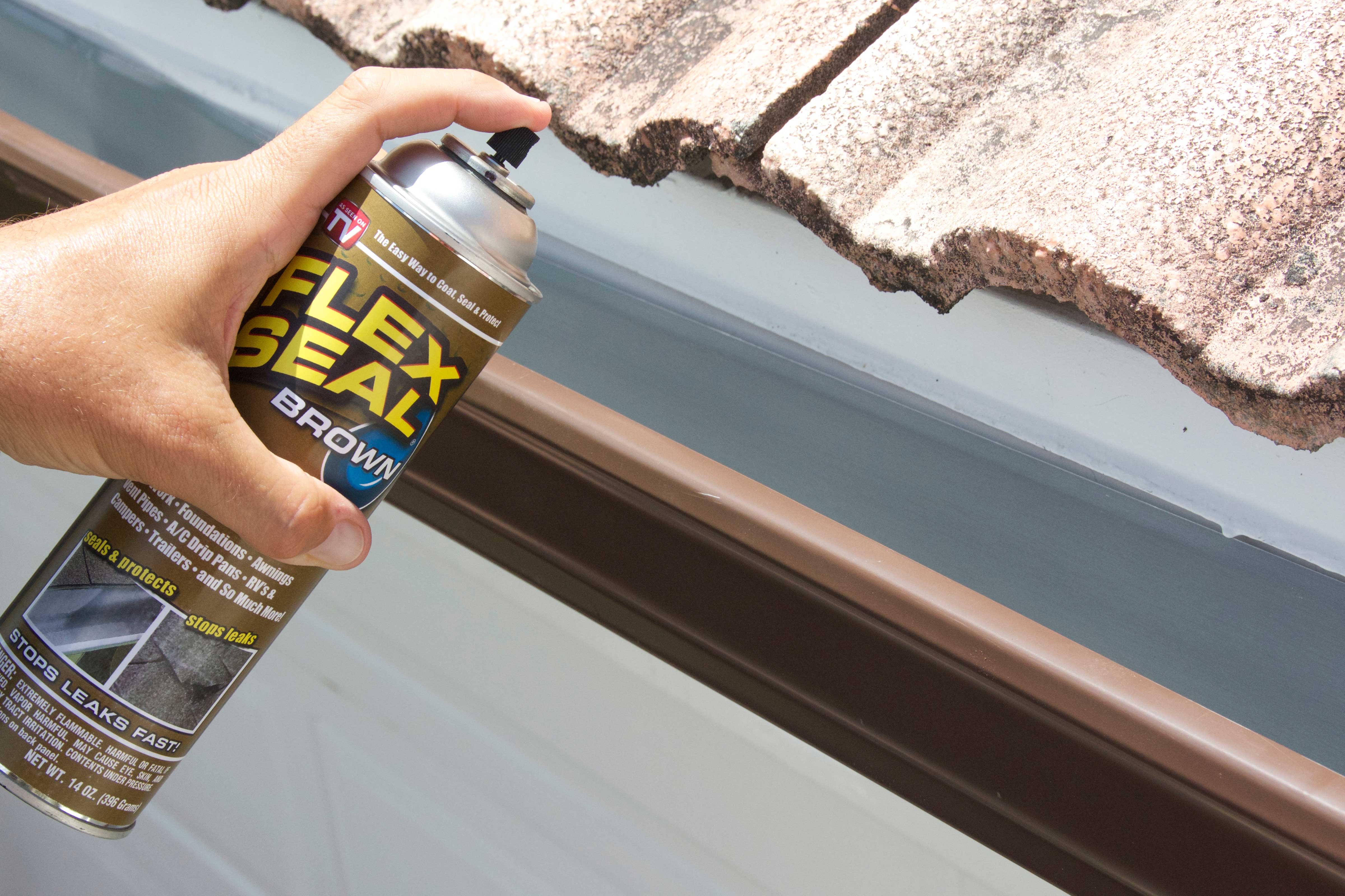 Flex Seal Brown In Use